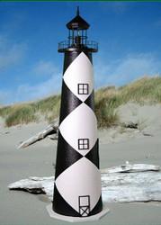 Cape Lookout E-Line Stucco Lighthouse (3')