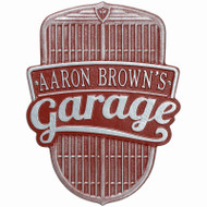 Car Grille Garage Plaque (Standard Wall 1 Line)