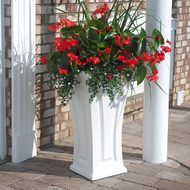 "Mayne Cambridge Tall Planter 28""H"