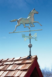 Copper Horse Weathervane - Verdigris