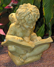"Cherub with Book Statue 13""H"