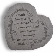 Death Leaves a Heartache Memorial Garden Stone