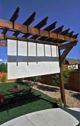 Exterior Accents Customizable Interior/Exterior Sun Shade 4'W x 8' Drop