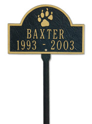 Personalized Dog Memorial Marker