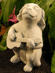 "Dog with Guitar 13""H"