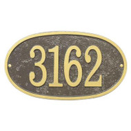 Fast & Easy Oval House Numbers Plaque