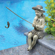 Fishing Girl Statue