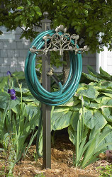 Filigree Garden Hose Station