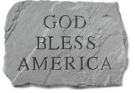 God Bless America Garden Stone