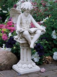 "The British Reading Fairy Garden Statue 21""H"