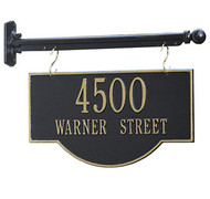 Hanging 2-Sided Arch Address Plaque