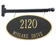 Hanging 2-Sided Oval Address Plaque (2 Line)