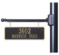 Hanging 2-Sided Rectangle Address Plaque
