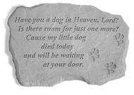 Dog In Heaven Pet Memorial Stone