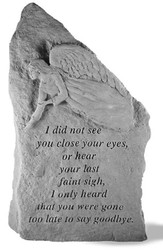 I Did Not See You Close Your Eyes Memorial