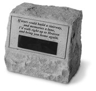Personalized If Tears... Memorial Stone with Urn