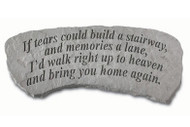 If Tears... Small Memorial Bench