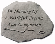 Faithful Friend Pet Memorial Stone