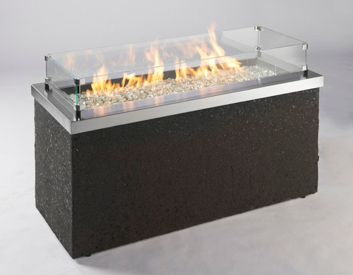 Shown with flames and Optional Glass Wind Guard for $236.55