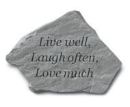 Live Well, Laugh Often Garden Stone