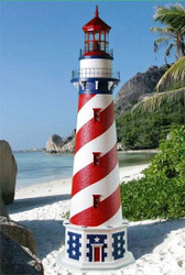 American Stucco Lighthouse (8')