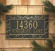 Pinecone Address Plaque