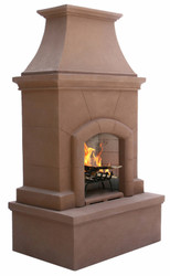 Premium Freestanding Outdoor Fireplace (Desert Tan)