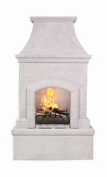 Premium Freestanding Outdoor Fireplace (Stone Grey)