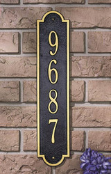 Richmond Vertical Address Plaque