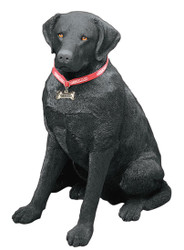 "Sandicast Black Labrador Retriever Statue (27""H)"