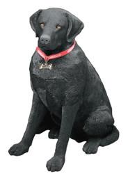"""Sandicast Black Labrador Retriever Statue (27""""H)"""