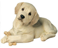 "Sandicast Yellow Labrador Retriever Pup Statue (9""H)"