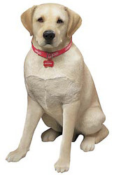 "Sandicast Yellow Labrador Retriever Statue (27""H)"
