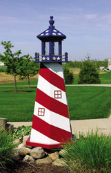Stars & Stripes Lighthouse (2' High)