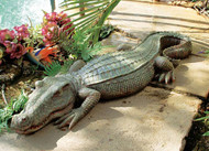 "Swamp Beast Crocodile Statue (37""L)"