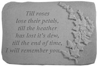 Till Roses Lose Their...w/Ivy Memorial Stone
