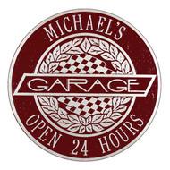 Victory Lane Garage Plaque