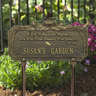 Dragonfly Garden Plaque (Quote and Personalize with 1 Line)