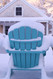 Shown in the Winter snow with the color Teal