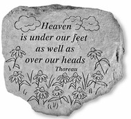 Heaven Is Under Our Feet Garden Stone