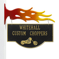 2 Sided Hanging Garage Chopper Plaque