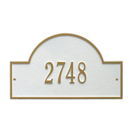 Arch Address Plaque 16L x 9H (1 Line)
