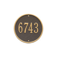 "Round Address Plaque 9"" Diameter  (1 Line)"