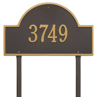 "Arch  Marker Estate Lawn Address Plaque 24""W x 14""H (1 Line)"
