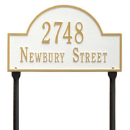 Arch Address Lawn Plaque 16L x 9H  (2 Lines)