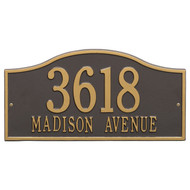 Rolling Hills Address Plaque 18L x 9H (2 Lines)