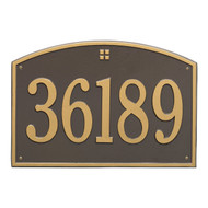 Cape Charles Address Plaque 21Lx14H (1 Line)