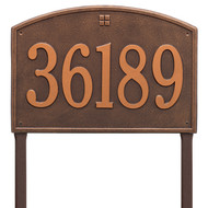 Cape Charles Address Lawn Plaque 21Lx14H (1 Line)