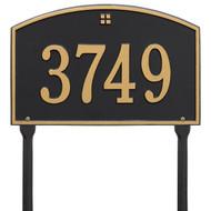 Cape Charles Address Lawn Plaque 15Lx10h (1 Line)