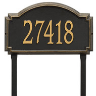 Williamsburg Address Lawn Plaque 21Lx12H (1 Line)